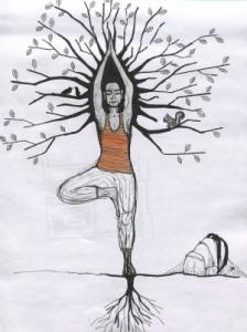 vrikshasana-posture de l'arbre