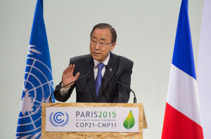 Secretary-General attends/speaks at Opening of High-Level Segment of COP21.